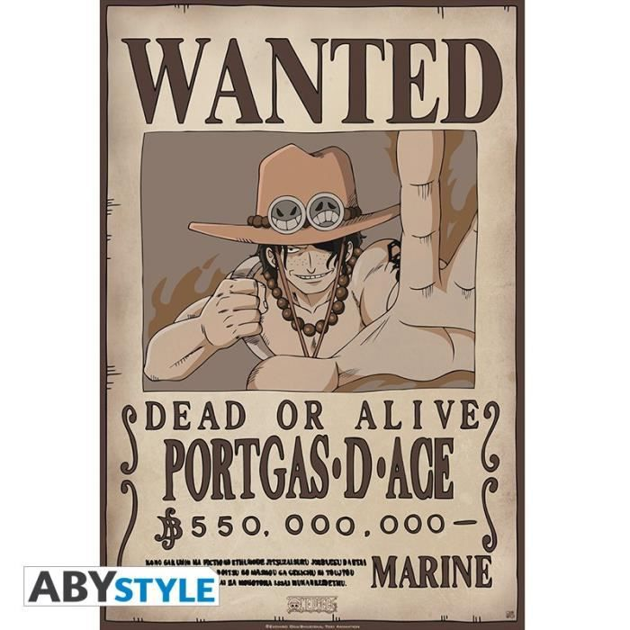 ONE PIECE - Poster -Wanted Ace- (52x35)