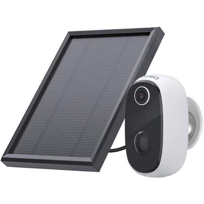 AKASO Caméra de Sécurité avec Panneau Solaire Batterie Rechargeable,Caméra IP Étanche Intérieure et Extérieure,Full HD 1080P 3067