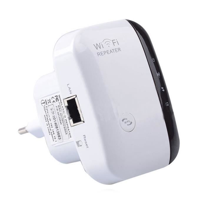 WiFi Répéteur 300 Mbps - Amplificateur de signal sans fil Bande 2,4 GHz