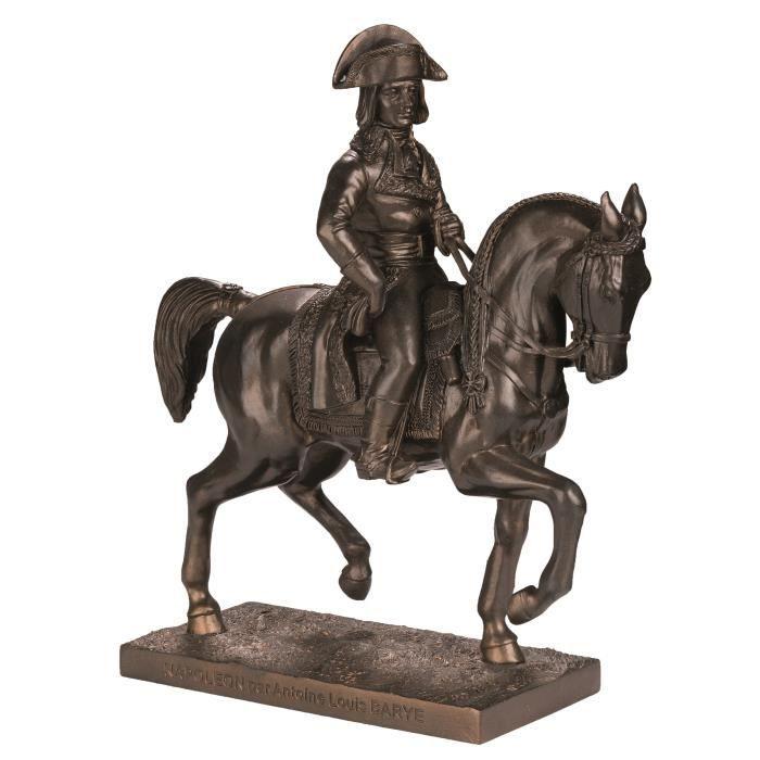 Reproduction Statue Napoleon a Cheval par Antoine Louis Barye Coloris Bronze 21,5/18,5/7,5 cm …