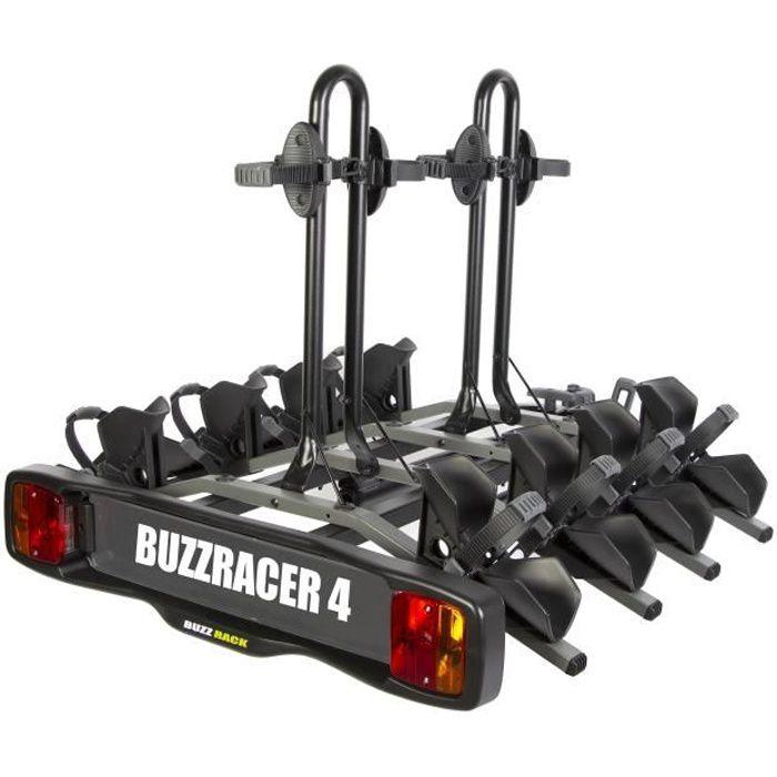 BUZZRACER 4 Porte-vélo sur attelage- plateforme 4 vélos