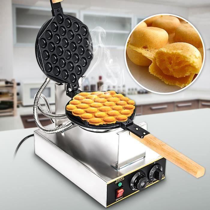 SINEXB® 110V-220V Gaufrier Electrique Oeuf Gâteau Four QQ Egg Waffle Baker Maker Machine