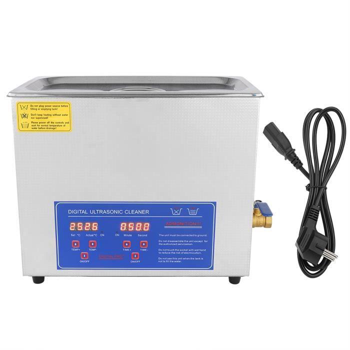 Nettoyant ultra sonique numérique de réservoir de minuterie de bain de nettoyeur 6L par ultrasons -XINAHB029