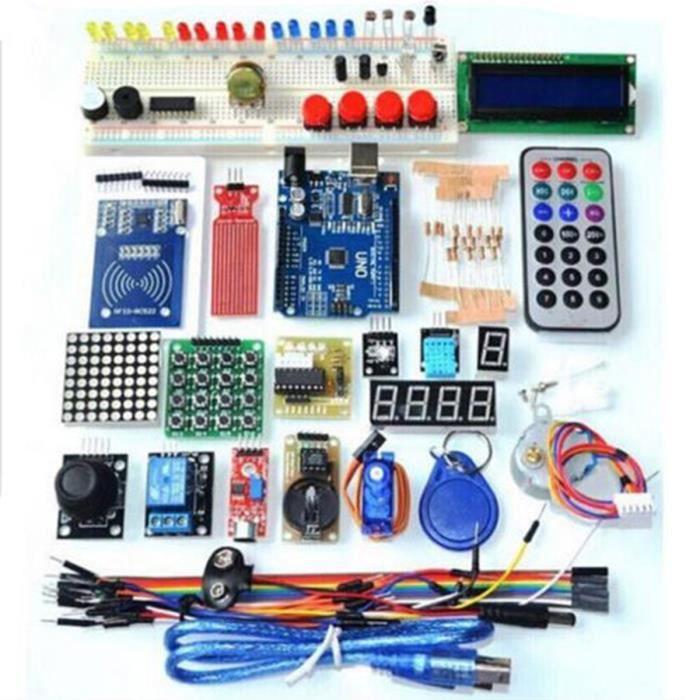 Starter Kit Pour Arduino UNO R3, kit de démarrage pour module RFID Version améliorée Learning Suite avec module d'interface IIC /I2C