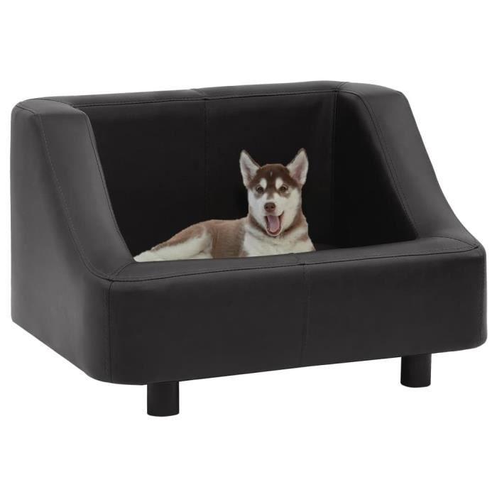 Excellent Qualité :) Canapé pour chien Canapé chien chat sur pied - Panier pour Chien - Noir 67x52x40 cm Similicuir &62662&
