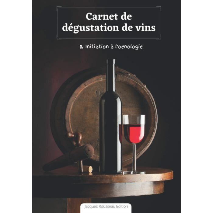 #1599 Carnet de dégustation de vins : initiation à l'oenologie - + de 150 fiches à remplir - 17 x 25cm