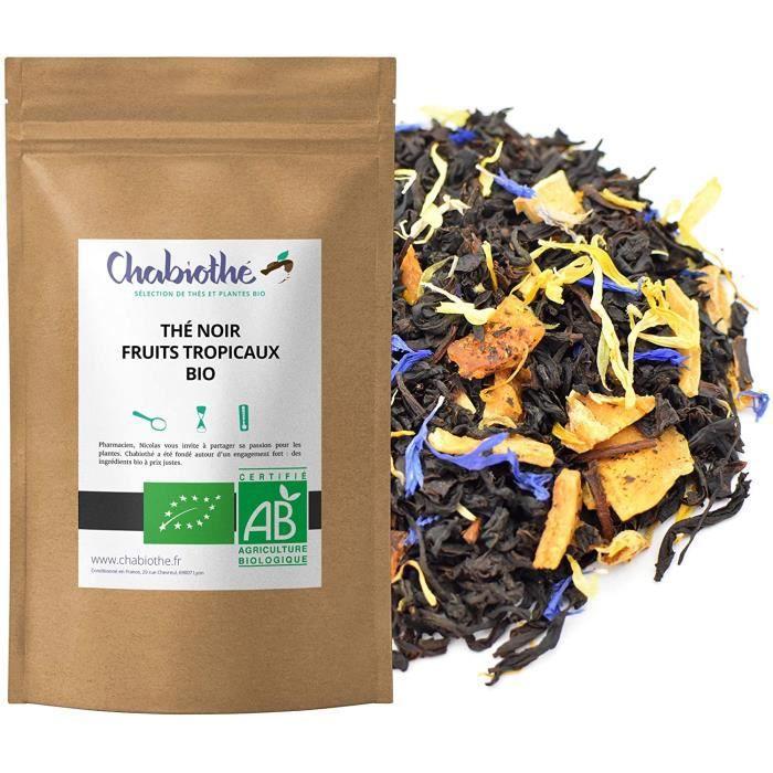 CHABIOTHE Thé noir Fruits Tropicaux Bio 200g
