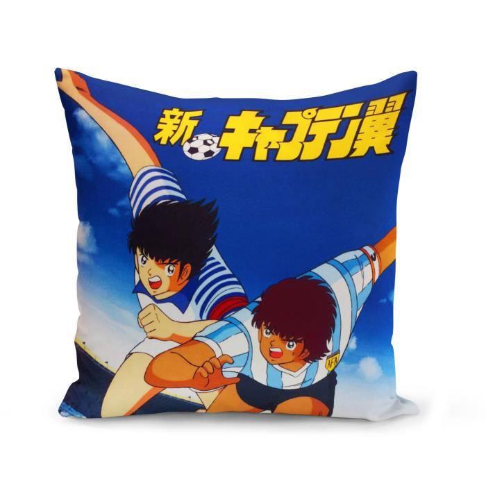 Housse de Coussin 40x40 cm Olive et Tom Captain Tsubasa Manga Anime Cartoon Japon Foot