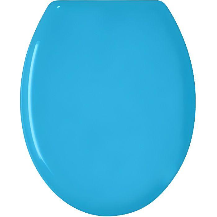 Abattant WC 'Color' Bleu Uni 48 x 36 x 4 cm