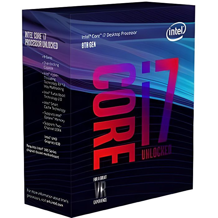 INTEL Processeur Core i7-8700K Coffee Lake - 3.70GHz - LGA 1151