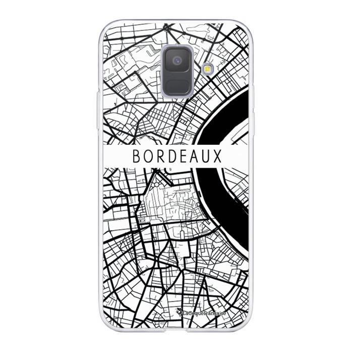 Coque Samsung Galaxy A6 2018 360 intégrale transparente Carte de Bordeaux Ecriture Tendance Design La Coque Francaise