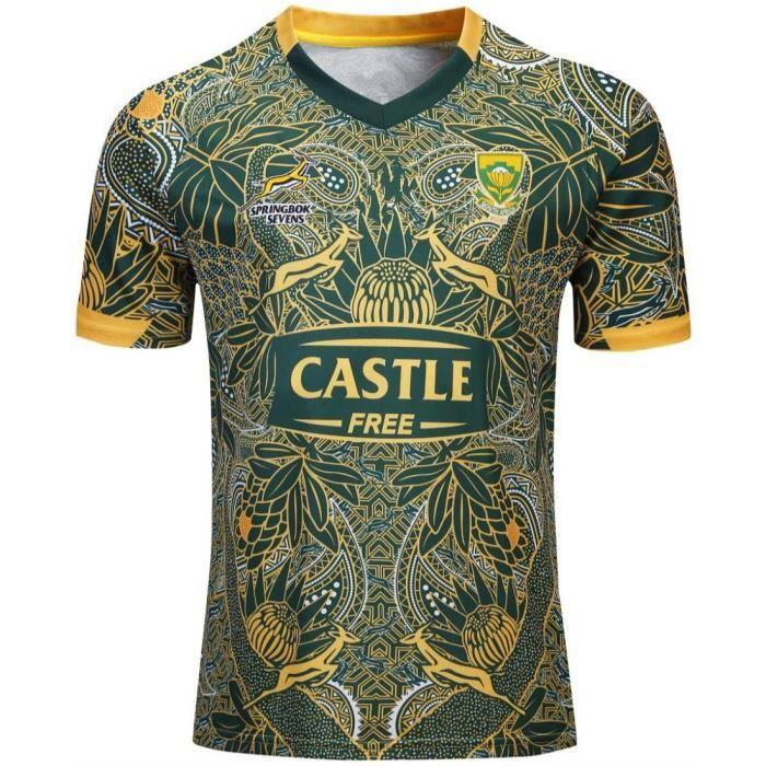 Maillot de Rugby Equipe de Afrique du Sud Springboks 7s Homme Pas Cher 2019 - 2020