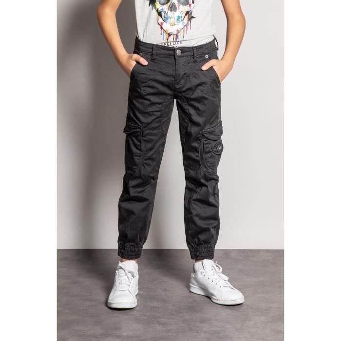DEELUXE Pantalon slim cargo GARDEN Charcoal