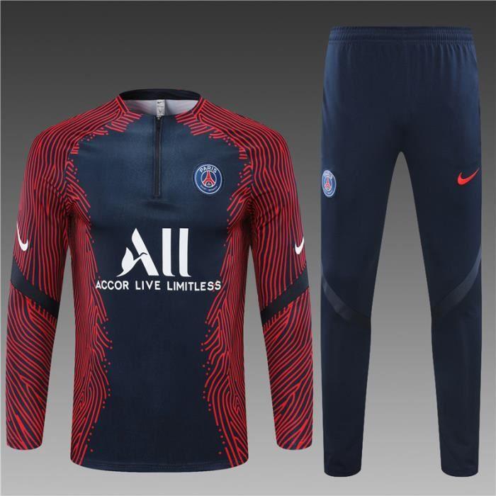 Tenue de Football Homme Enfants AJAX Saint-Germain - 2021 Tenue de Foot Homme Enfants Ensemble Survêtements D'entraînement