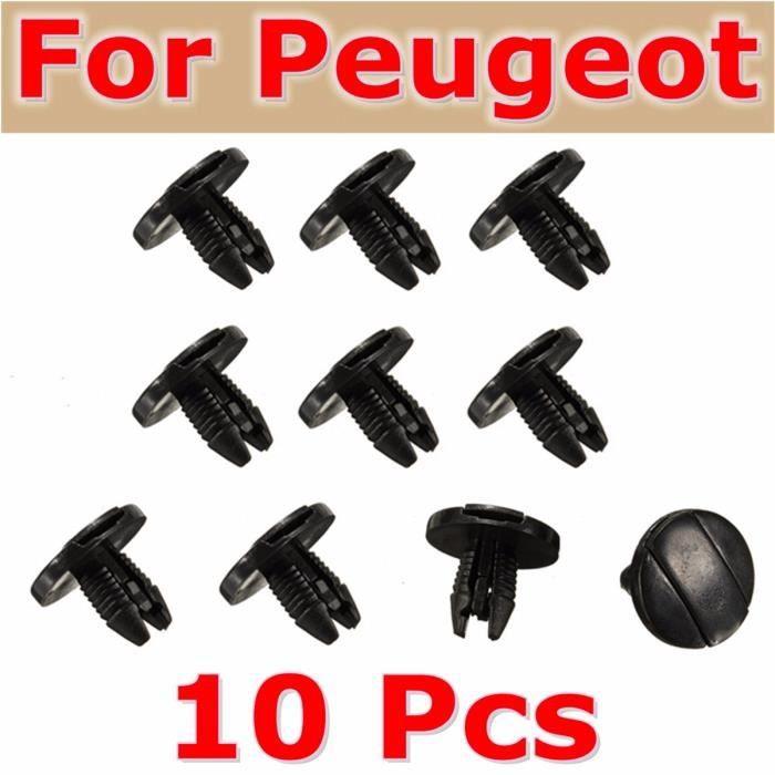 TEMPSA Lot 10x Garde-boue Clips Agrafes Fixation Pour Peugeot 207 307 206 SW CC 856553