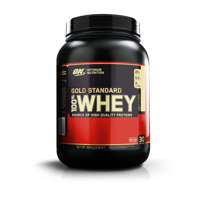OPTIMUM NUTRITION Pot 100% Whey Gold Standard Vanille - 908 gr