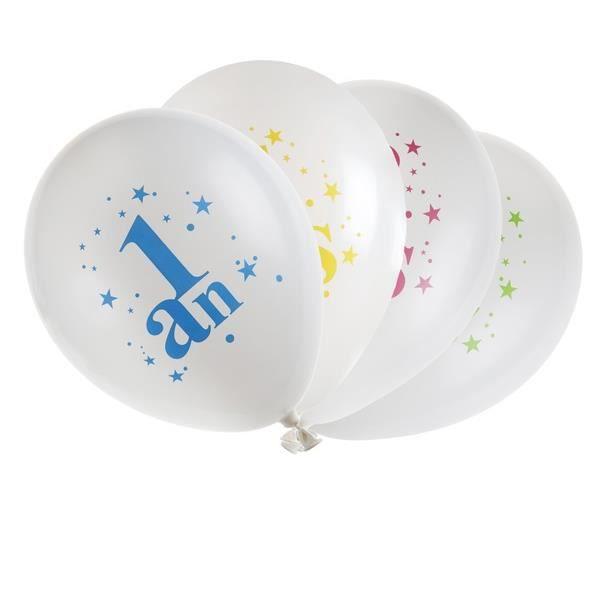 Ballon anniversaire: 1an (x8) REF/5226