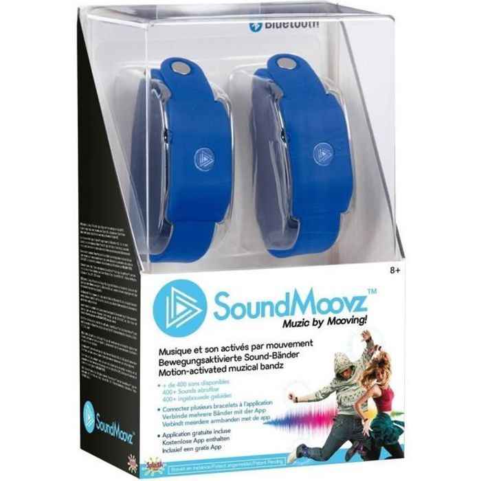 SOUNDMOOVZ Bracelet Musical Bleu