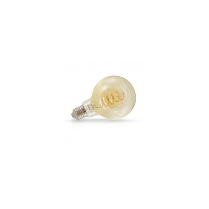 Ampoule LED E27 G95 Filament Spirale 4W 2700 K Golden
