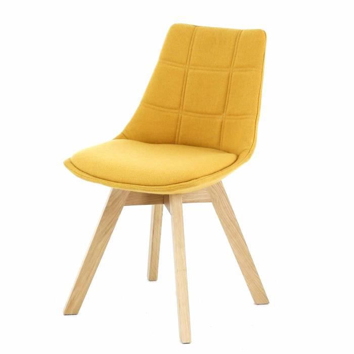joy chaise jaune moutarde avec pi tement en bois design scandinave jaune achat vente. Black Bedroom Furniture Sets. Home Design Ideas