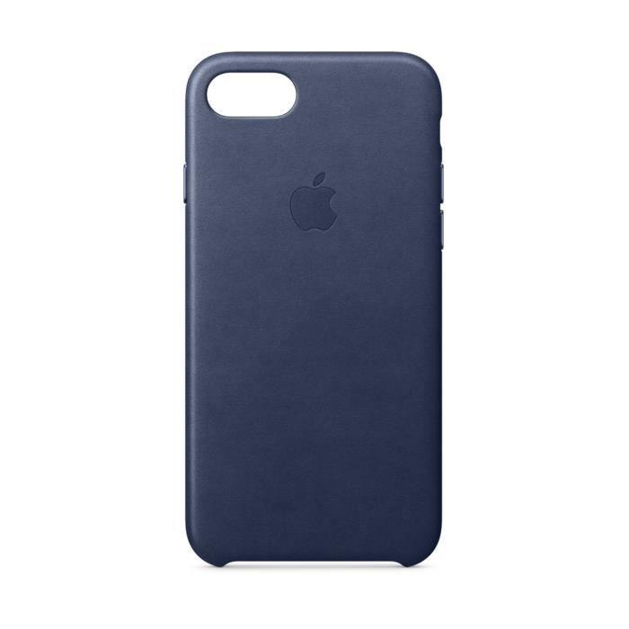 coque en cuir pour iphone 8 7 bleu nuit