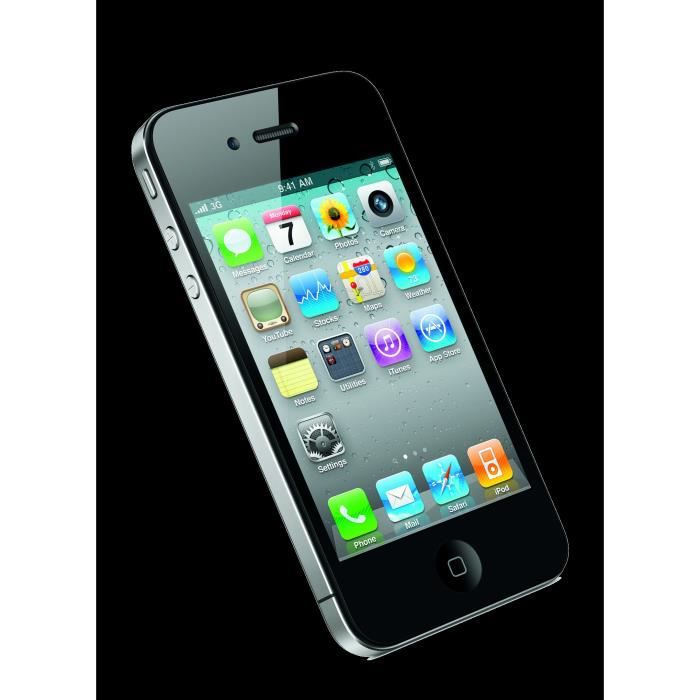 apple iphone 4s 16go noir achat smartphone pas cher. Black Bedroom Furniture Sets. Home Design Ideas