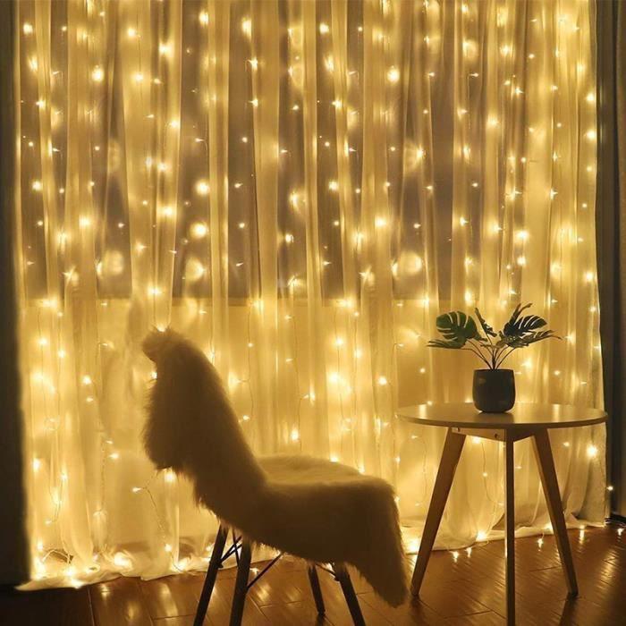 200 DEL de Noël de lumières blanches chaudes Cascade Rideau Outdoor chaîne décoration