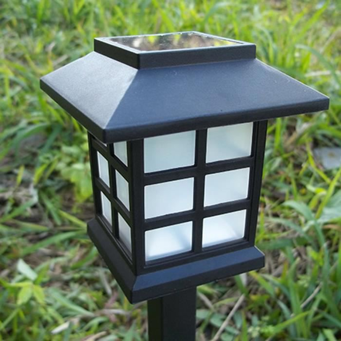Nouveau Ensemble de 6 DEL Energie Solaire Noir Spot Feux pour Jardin Chemins etc.