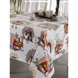 nappe en toile cir e ovale 180x240 cm dog achat vente nappe de table cdiscount. Black Bedroom Furniture Sets. Home Design Ideas