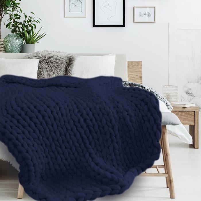 De Luxe à grosses mailles épaisse couverture laine fil volumineux Chaud Toucher Doux Sofa Jeté De Lit