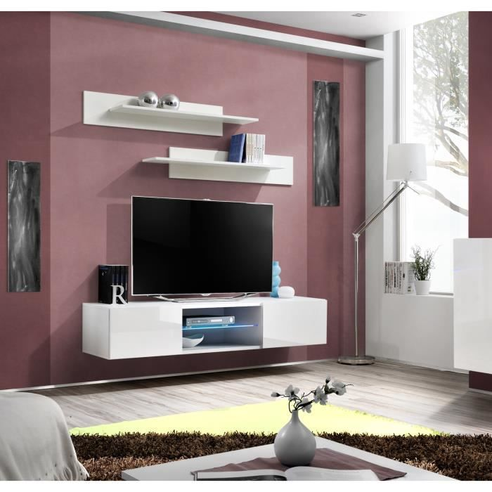 meuble tv suspendu led achat vente meuble tv suspendu. Black Bedroom Furniture Sets. Home Design Ideas