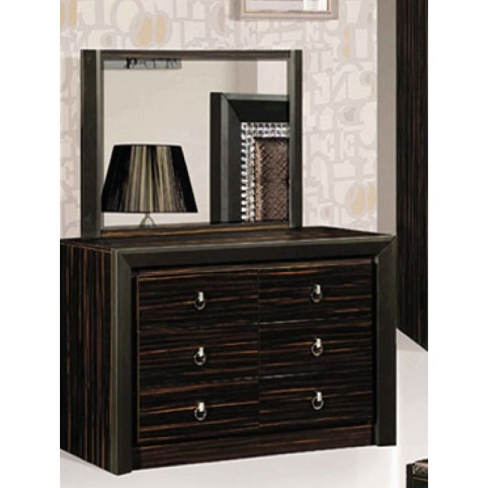 commode bruna 3 tiroirs avec miroir weng achat vente commode de chambre commode bruna. Black Bedroom Furniture Sets. Home Design Ideas