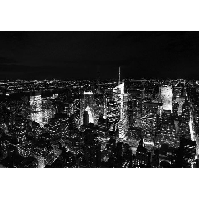 Tableau new york manhattan nuit achat vente tableau for Art et maison new york