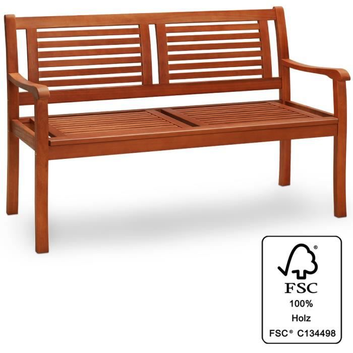 banc de jardin en bois eucalyptus certifi fsc achat. Black Bedroom Furniture Sets. Home Design Ideas