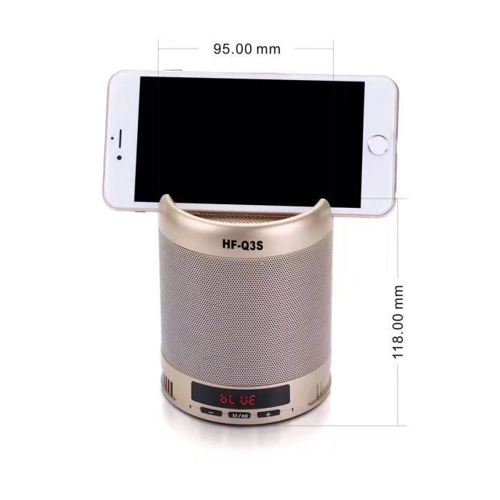 ENCEINTE NOMADE 2 EN 1 Enceinte Bluetooth Support Téléphone Haut-p