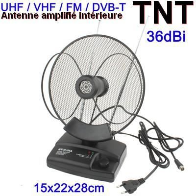 antenne tv int rieure tnt uhf vhf fm 36 dbi antenne rateau avis et prix pas cher cdiscount. Black Bedroom Furniture Sets. Home Design Ideas