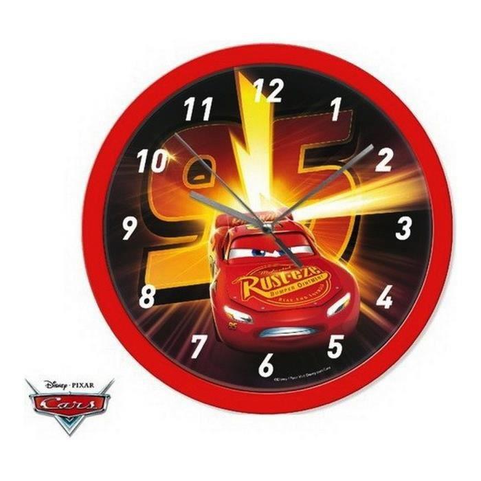 HORLOGE - PENDULE Horloge murale Cars montre Disney enfant garçon 95