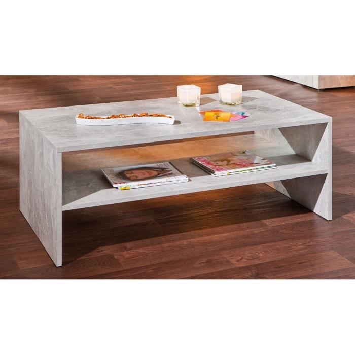table basse niche beton 5 1 achat vente table basse. Black Bedroom Furniture Sets. Home Design Ideas