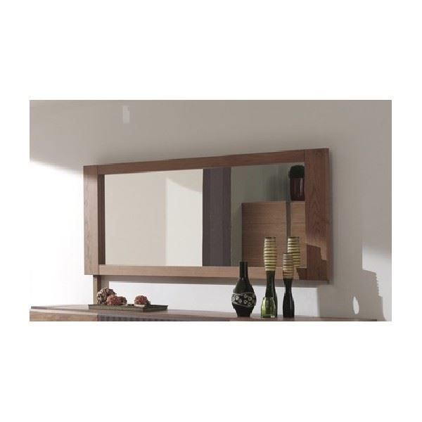 miroir de salle manger nestor ch ne coloris achat vente miroir cdiscount. Black Bedroom Furniture Sets. Home Design Ideas