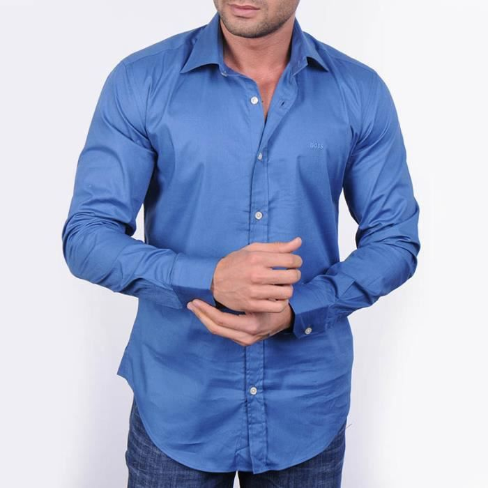 chemise hugo boss hu109102 bleu roi bleu achat vente chemise chemisette chemise hugo boss. Black Bedroom Furniture Sets. Home Design Ideas
