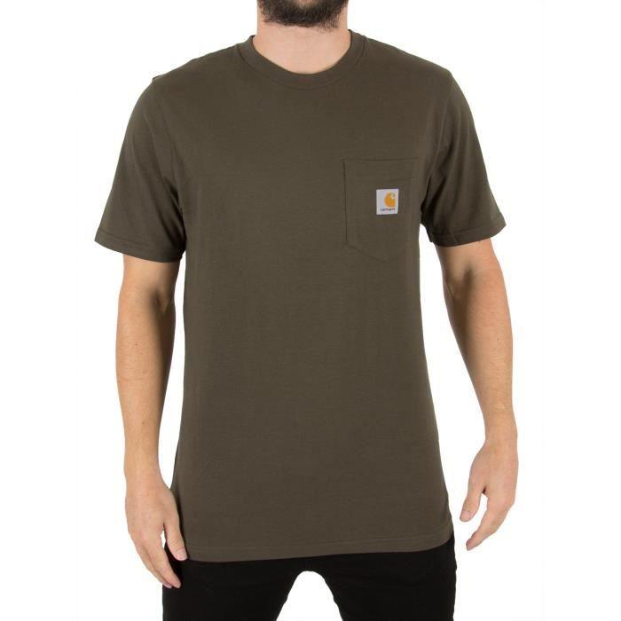 Carhartt WIP Homme Pocket T-Shirt, Vert Vert