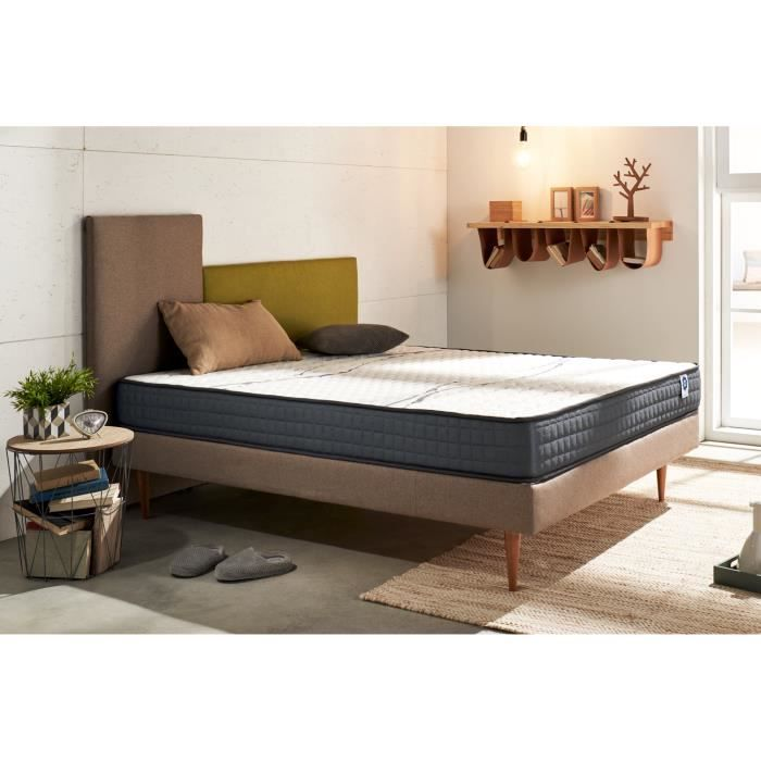 matelas visco memory 90x200 cm blue latex 7 zones m moire 2009928191652 achat vente matelas. Black Bedroom Furniture Sets. Home Design Ideas