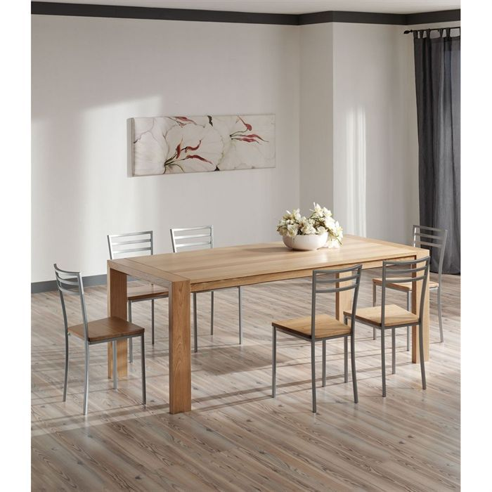 Table extensible ch ne massif achat vente table a for Table chene massif extensible