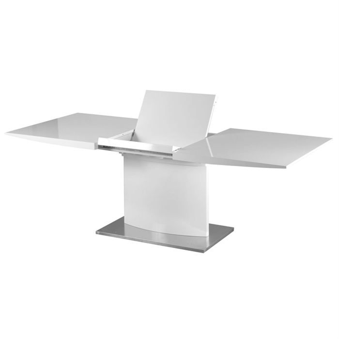 Table de repas extensible design sydney blanc achat - Table a manger design extensible ...