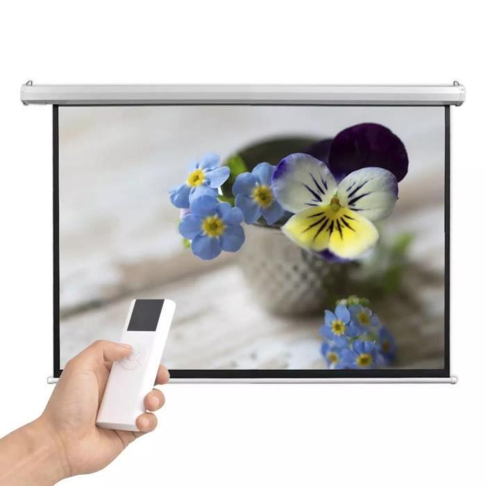 Vidaxl écran De Projection électrique Avec Télécommande 160x90 Cm 16 9