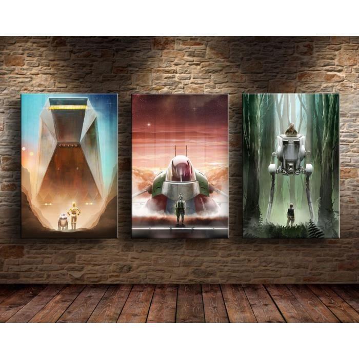 TABLEAU - TOILE 3Pcs Star Wars Toile Tableau Home Décor Peinture à