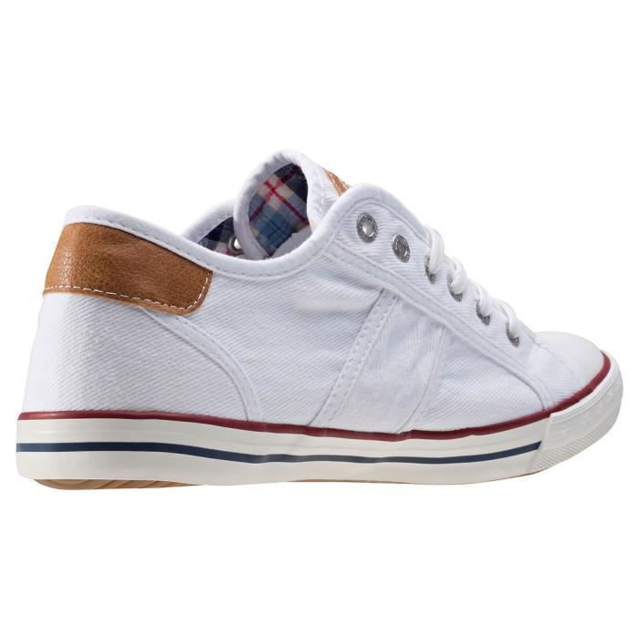 Baskets White EU Top Low Mustang Hommes 46 Izwttp