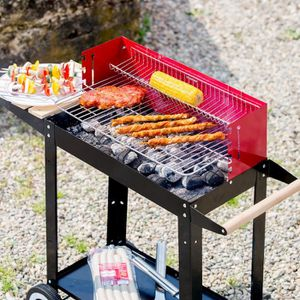 Tramontina Churrasco mobile en bois Barbecue panier chariot BBQ Aide aide stand NEUF