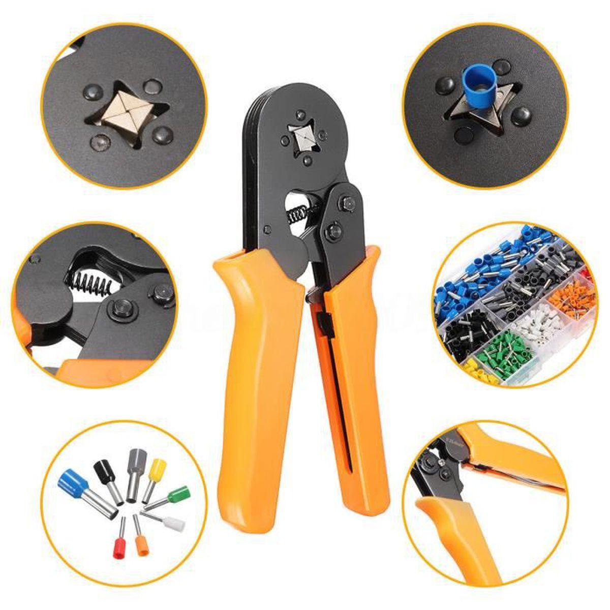AWG23-10 Auto Ajuste Pince A Sertir Clique Câble Embout Fil HSC8 6-4A 0.25-6mm²