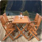 9fa9fb61ecf44 Ensemble salon de jardin 1 table   4 chaises Sydney - Bois d Acacia -  Pliable